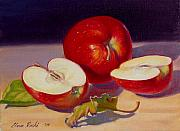 Small Paintings - Fresh Apples by Elena Roche