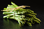 Asparagus Framed Prints - Fresh Asparagus Tips Framed Print by Christopher and Amanda Elwell