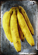 Texture Prints - Fresh Bananas Print by Skip Nall