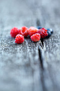Raspberry Red Prints - Fresh berries Print by Kati Molin