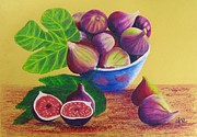 Figs Framed Prints - Fresh Figs Framed Print by Elena Malec