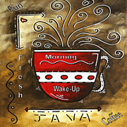 Licensor Prints - Fresh Java Original Painting Print by Megan Duncanson