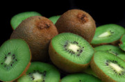 Green Fruit Prints - Fresh Kiwi Print by Terence Davis