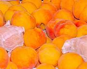 Fresh Peaches Print by Dorota Nowak