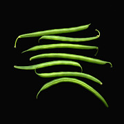 Green Bean Framed Prints - Fresh Produce. A Row Of Green Beans Framed Print by Marlene Ford