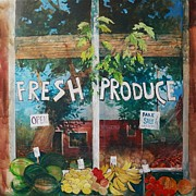 Mjonesart Prints - Fresh Produce Print by Micheal Jones