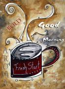 Lifestyle Painting Posters - Fresh Start by MADART Poster by Megan Duncanson
