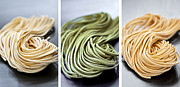 Noodles Photo Prints - Fresh tagliolini pasta Print by Elena Elisseeva