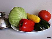 Kitchen Photos Prints - Fresh Vegetables 2 Print by Methune Hively