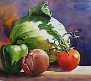 Beverage Painting Prints - Fresh Vegetables Print by Sue Zimmermann