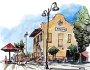 Railroads Paintings - Fresno Depot by Terry Banderas