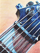 Strings Drawings Posters - Fret Poster by George Wagner