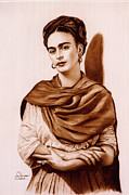Icon  Pastels - Frida con reboso by Bill Olivas