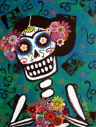 Day Of The Dead Prints - Frida Dia De Los Muertos Print by Pristine Cartera Turkus