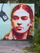 Wynwood Mixed Media - Frida first by Dustin Spagnola