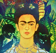 Painter Mixed Media - Frida by Gunter  Hortz