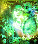 Success Mixed Media - Frida in Green by Fania Simon