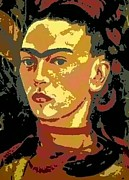 Frida Kahlo - Courage Personified Print by Angela L Walker