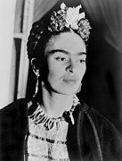 Mexican Artists Framed Prints - Frida Kahlo 1907-1954, Mexican Artist Framed Print by Everett