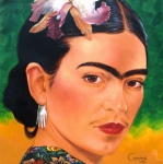 Frida Framed Prints - Frida Kahlo 2003 Framed Print by Jerrold Carton