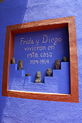 Diego Rivera Framed Prints - FRIDA KAHLO MUSEUM Mexico City Framed Print by John  Mitchell