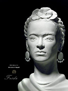 Sculpture Ceramics Originals - Frida Kahlo by Nijel Binns