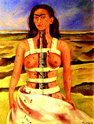 Kahlo Paintings - Frida Kahlo The Broken Column by Pg Reproductions