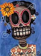 Day Of The Dead Skeleton Posters - Frida Muerta Poster by  Abril Andrade Griffith