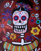 Skulls Paintings - Frida by Pristine Cartera Turkus