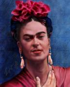 Female Artist Prints - Frida Print by Reggie Duffie