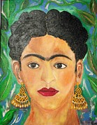 Viva La Vida Galeria Gloria  - Frida Woman With Earrings