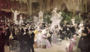 Hall Paintings - Friday at the Salon by Jules Alexandre Grun