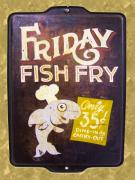 Found Object Framed Prints - Friday Fish Fry Framed Print by William Krupinski