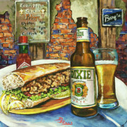 Beer Paintings - Friday Night Special by Dianne Parks