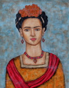Rivera Painting Prints - Frieda Kahlo Print by Rain Ririn