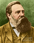 Famous Person Portrait Posters - Friedrich Engels, Father Of Communism Poster by Photo Researchers