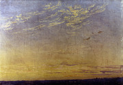 Caspar Posters - Friedrich: Evening, 1824 Poster by Granger