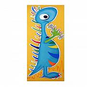 Extinct And Mythical Pastels Originals - fRIENDLY dINOSAUR by Mara Morea