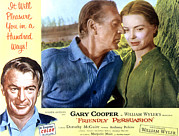 1956 Movies Prints - Friendly Persuasion, Gary Cooper Print by Everett