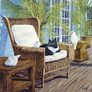Verandah Paintings - Friends by Danielle  Perry