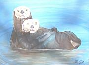Otters Originals - Friends Do Not Alwasy Share by Donald Schrier