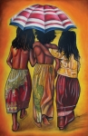 African-american Pastels - Friends Forever by Stacy V McClain