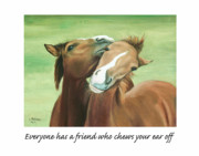Colt Paintings - Friends by Linda Tenukas