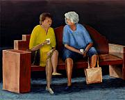 Talking Painting Prints - Friends Print by Peter Worsley