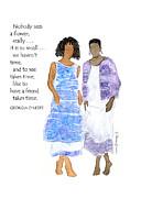 Humorous Greeting Cards Prints - Friends take time - Multicultural - Inspirational Print by Karen Bailey