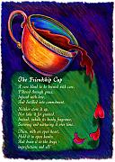 Coffee Drawings Prints - Friendship Cup Print by Anne Nye