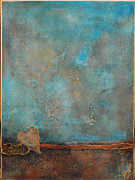 Anahi Decanio Mixed Media - Friendship in Blue Abstract by Anahi DeCanio