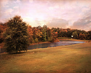Autumn Landscape Art - Friendship Pond by Jai Johnson