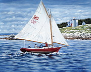 Sailboat Paintings - Friendship Sloop by Danielle  Perry