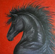 Louise Green - Friesian Fire